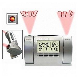 Електронен часовник, термометър, аларма, прожектор час и температура