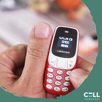 Малък мобилен телефон мини Bm10, 2 сим карти, bluetooth свързване, 7 х 3см