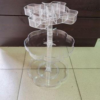 Органайзер за грим на 3 нива, 3D въртяща рамка