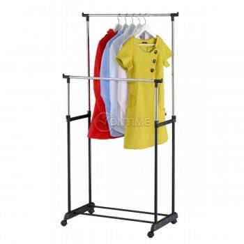 Щендер за дрехи, колела, 2 части