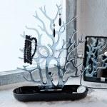 Органайзер за бижута, форма на дърво