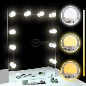 Лед лампи за тоалетки за гримиране, 3 режима, регулиране силата на светене