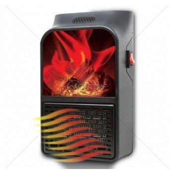 Мощна мини печка - духалка, 1000W, дистанционно, ефект пламък