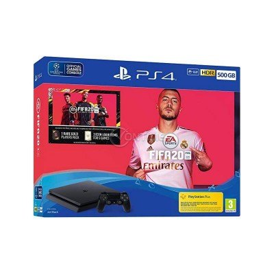 Конзола Sony PS4 500GB + FIFA 2020 + PS+