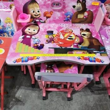 Детски чин и столче Маша и Мечока