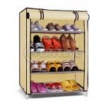 Стелаж органайзер за обувки и пантофи, метал и текстил