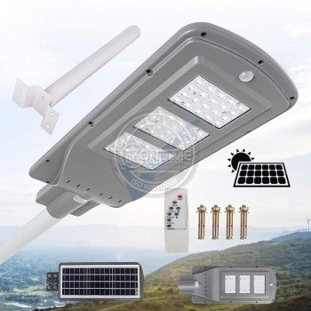 Соларна лед външна лампа 60W, сензор за движение, дистанционно