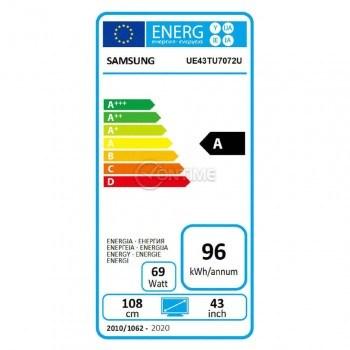 Телевизор Samsung UE43TU7072UXXH, 3840x2160 UHD-4K , 43 inch, LED, Smart TV, Tizen
