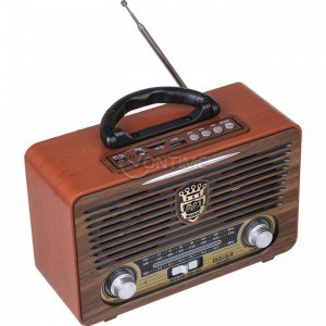 Ретро акумулаторно радио Meier M-115BT, Bletooth, USB, TF, AUX