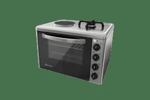 Готварска печка мини Елдом  213VF-NEW, ток и газ котлон, 38L ел. фурна
