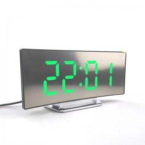 Настолен часовник DT6507, светещи цифри, аларма, дата, температура