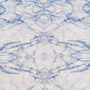 Самзалепващ тапет тухли 77 х 70см, бяло-син цвят, релефни