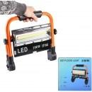 LED прожектор 100W, акумулаторна батерия, SOS режим