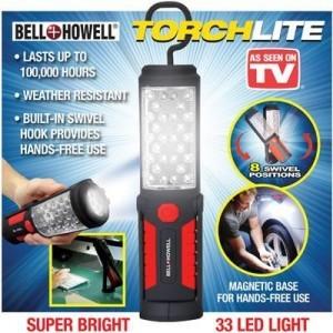Фенер магнитен TorchLite, 33 Leds, Кука