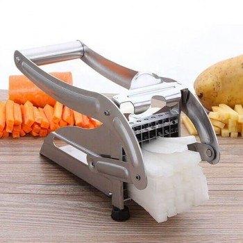 Ръчна преса за пържени картофи, зеленчуци, 2 ножа