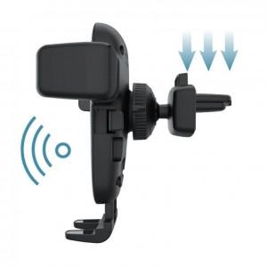 Автомобилна стойка за телефон, безжично зарядно, Fast Charge