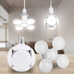 LED лампа футболна топка, сгъваема, E27, 40W