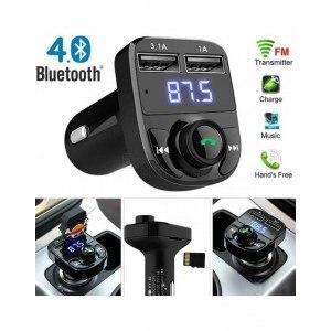 FM трансмитер X8, Bluetooth, HANDSFREE, MP3 плейър, Micro SD карта