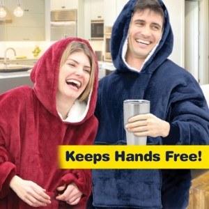 Одеяло с ръкави, суичър Huggle Hoodies, един размер