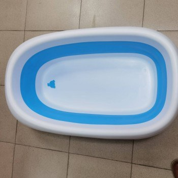 Бебешка вана за къпане, крачета, сгъваема, сифон