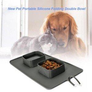 Преносими силиконови купички за храна за домашни любимци Portable Pet Bowl