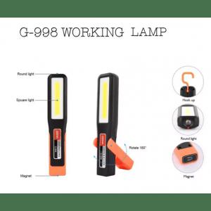 Работна лампа - фенер G998, SOS функция, магнитен корпус, кука