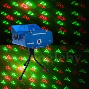 LED лазерен прожектор, коледни мотиви, диско ефекти