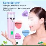 Нано уред за хидратиране и освежаване на кожата, power bank, тест на кожата