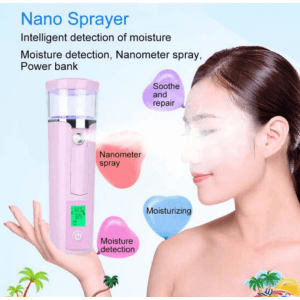 Нано уред за хидратиране и освежаване на кожата, миглите, power bank, тест на кожата