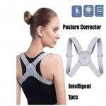 Коректор за гръб за мъже, жени и деца със сензор за предупреждение