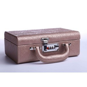 Кутия за бижута тип куфар 24/17/9см, бронз, B24
