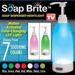 Диспенсър за сапун Soap Brite, 7 меки светлини