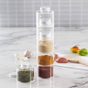 Комплект бурканчета за подправки, 6 броя, Spice Tower