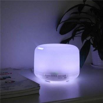 Арома ултразвуков дифузер, овлажнител, 500мл, 17 х 12см, светещ, 10W, дистанционно