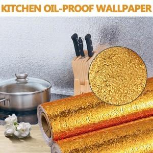 Алуминиево фолио 3 метра x 60см, златен цвят, самозалепващо