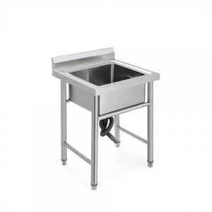 Професионална единична мивка 70 х 70 х 85см, неръждаема стомана