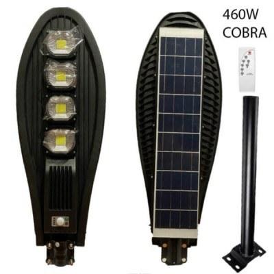 Улична LED лампа голяма мощност Cobra 460W, сензор за движение, дистанционно