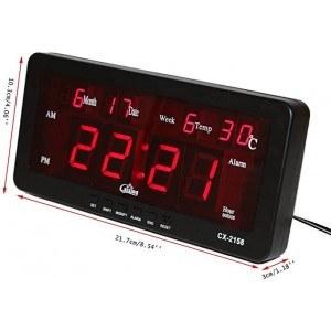 Дигитален LED часовник с календар, алрма и термометър. 220V