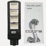 Улична соларна лампа Cobra 460W, IP65, сензор за движение