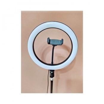 LED ринг лампа 10 с трипод, 3 светлини, стойка за телефон