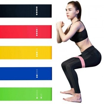 Комплект ластични ленти за фитнес тренировки 5бр