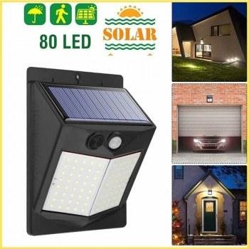 Соларна лампа за стена 80 диода