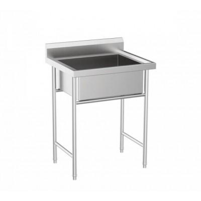 Професионална единична мивка 80/60/85см, неръждаема стомана
