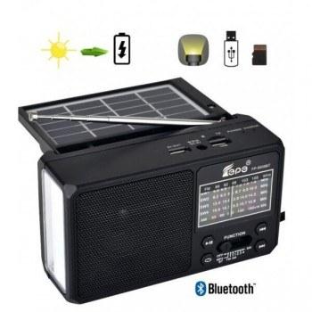 Блутут радио FP-9007BT-S, соларен панел, лампа, USB/TF MP3, Powerbank