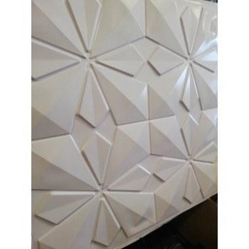 3D PVC панели тапети 50 х 50см, бял цвят