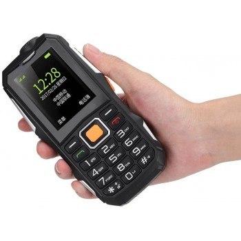 Мобилен телефон Zunate Senior, големи цифри, 2 сим карти, мощна батерия, фенер