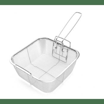Медна касерола 24см, кошница за пържене, стойка за пара, стъклен капак