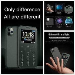 Мини телефон карта Soyes S10P, ултра тънък, камера