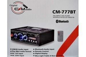 Усилвател CM-777BT, Bluetooth, дистанционно, mp3, 12V/220V