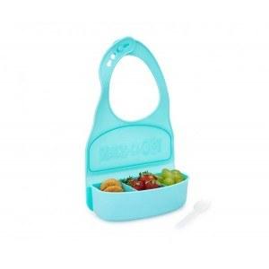 Детка кутия за храна с 3 отделения и силиконов лигавник